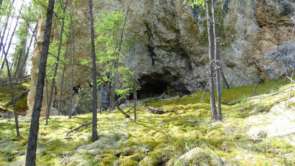 photo of a cave surveyed by Dr. Perreault in northern Mongolia