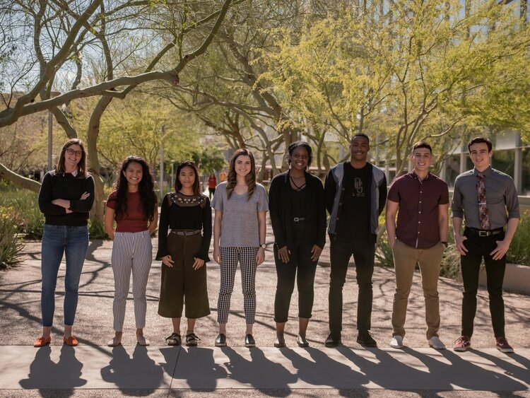 group photo of the staff of ASU's Emerging Minds Lab