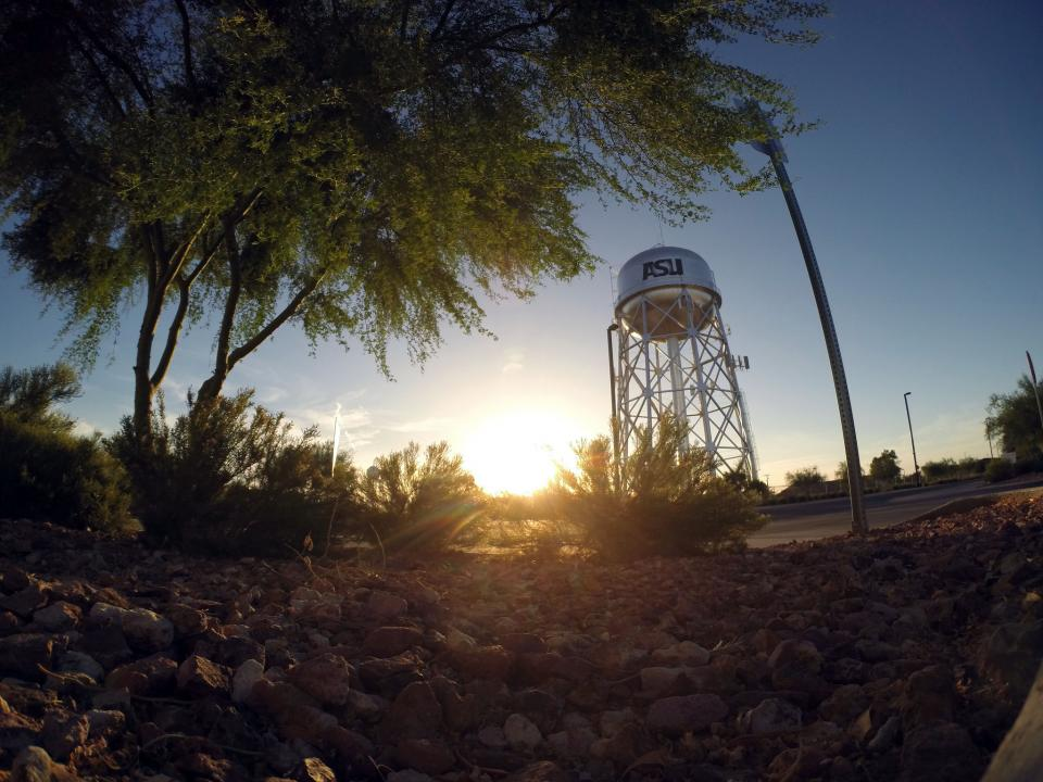 water tower on ASU's Polytechnic campus