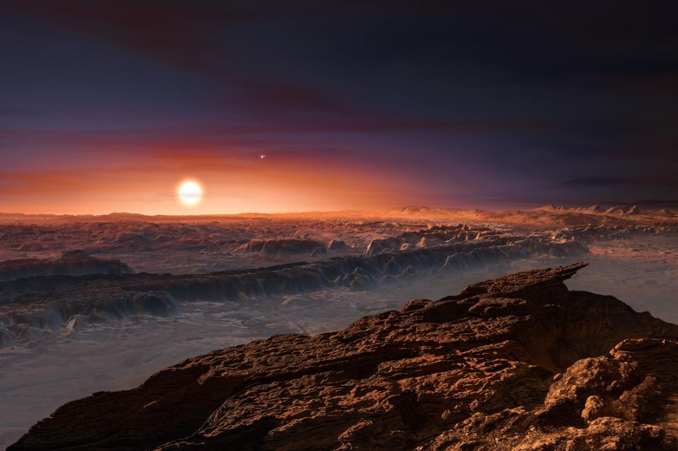 rendering of an exoplanet