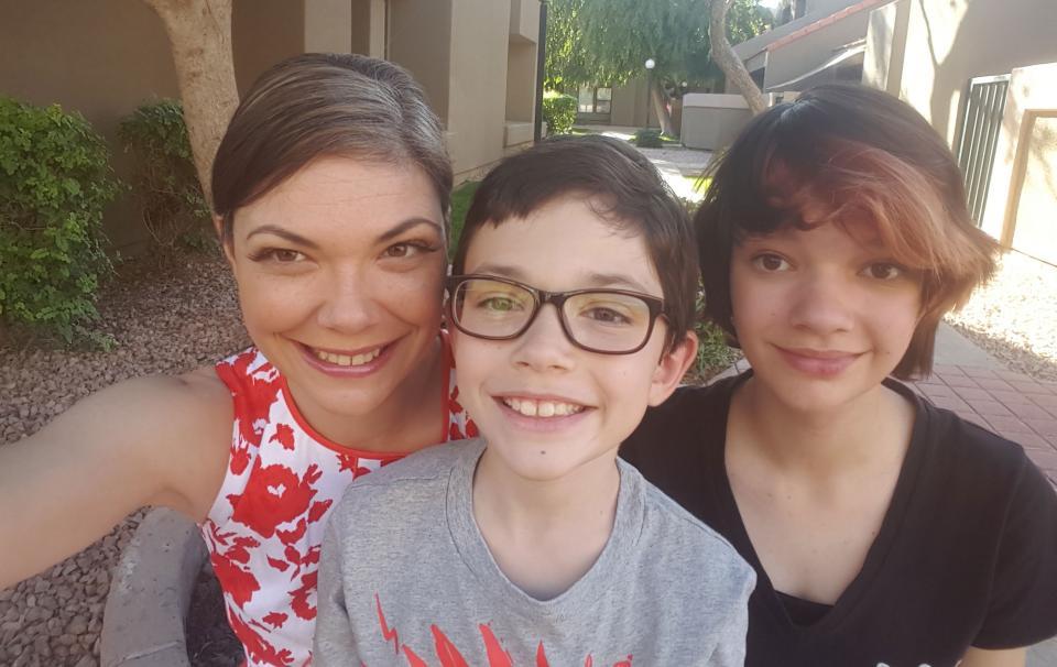 ASU student Rachel Williams and her kids
