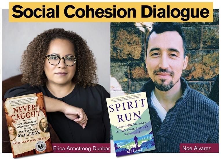 headshots of authors Erica Armstrong Dunbar (left) and Noé Alvarez