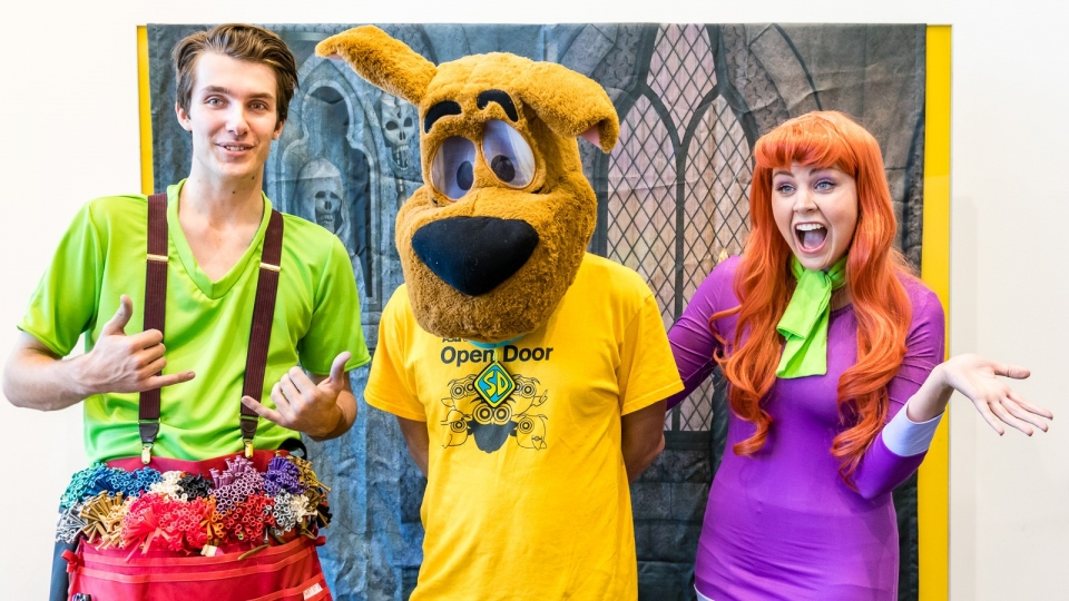 Image of Scooby-Doo and the gang at ASU Open Door in 2020, photo by Bruce Matsunaga
