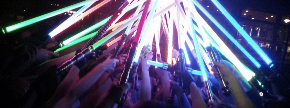 A group of students meets regularly as part of an ASU lightsaber club