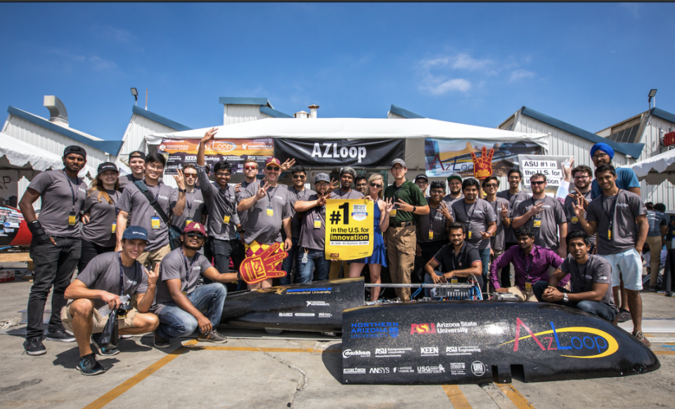 A team of ASU engineers competed in the Hyperloop competition