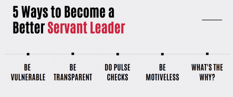 5 ways to become a better servant leader