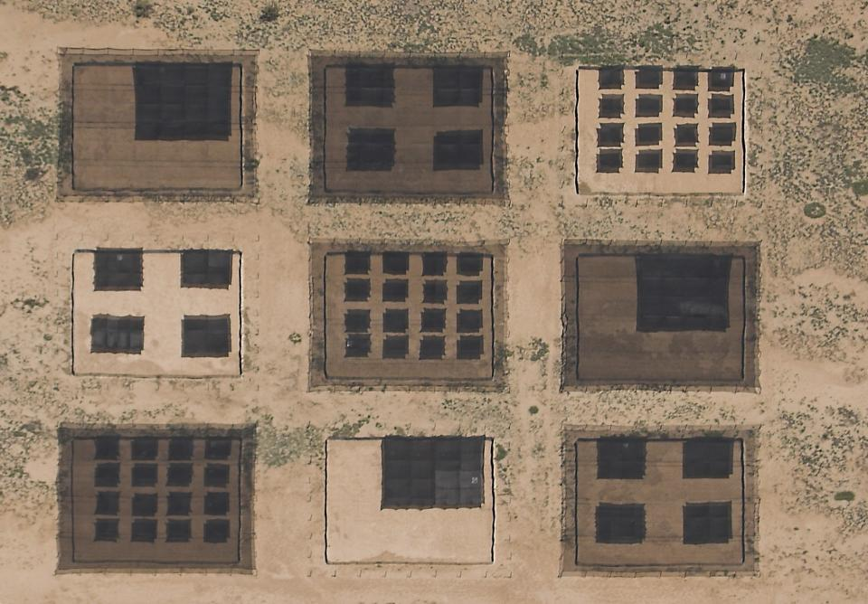 Shade structures in the desert
