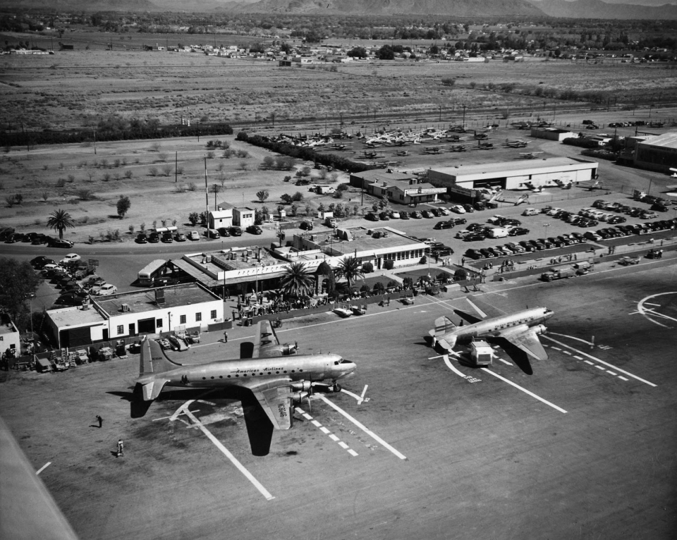 A 1930s photo of what became Sky Harbor Airport