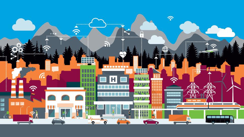 Smart Cities Graphic Schematic