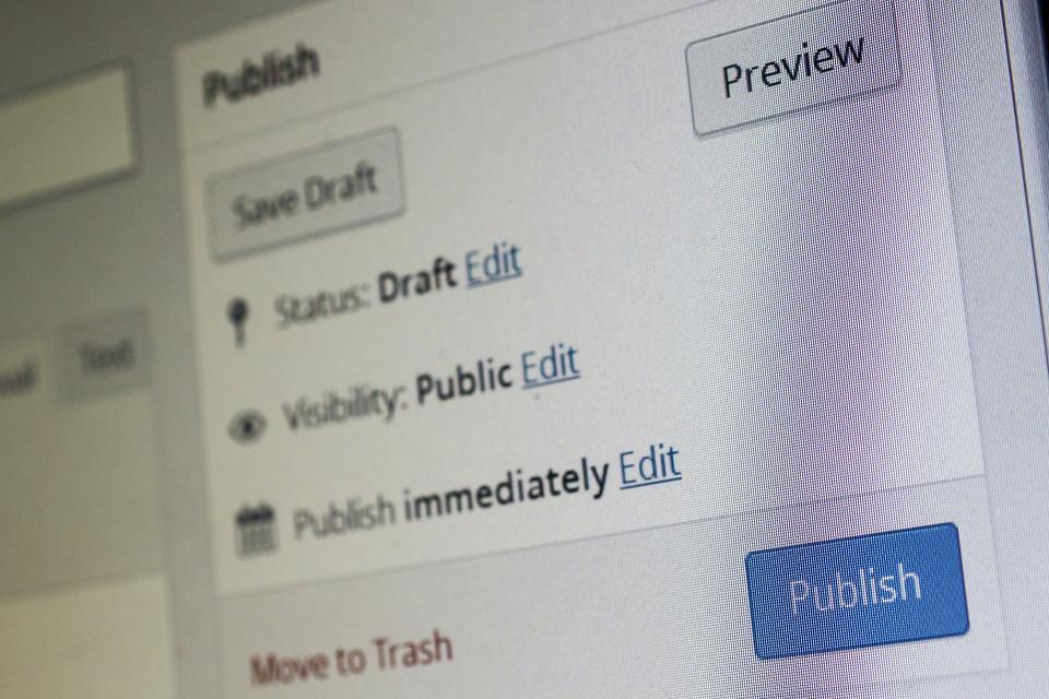 screen shot of publishing a public post