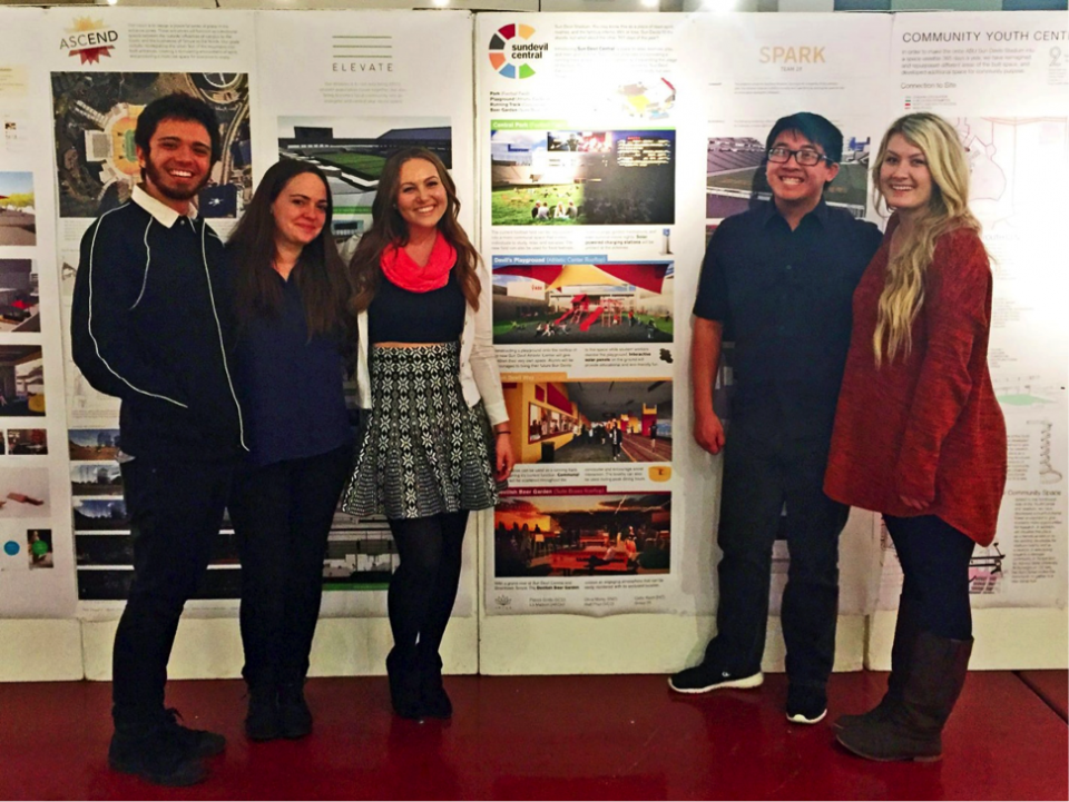 The Sun Devil Central student design team.