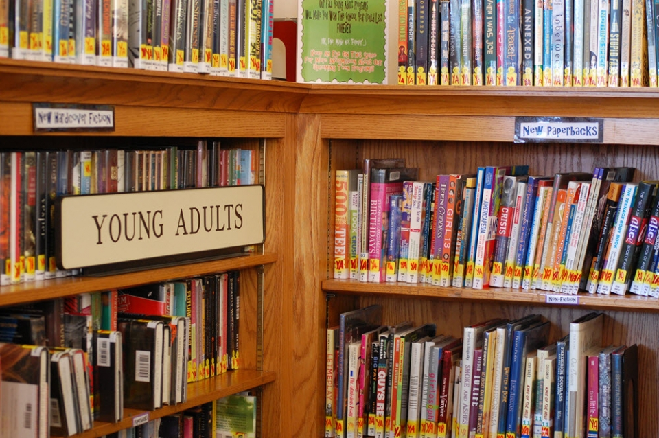 Photo of the young adult collection in the Salem Public Library in Salem, MA via Flickr. Used under CC 2.0.