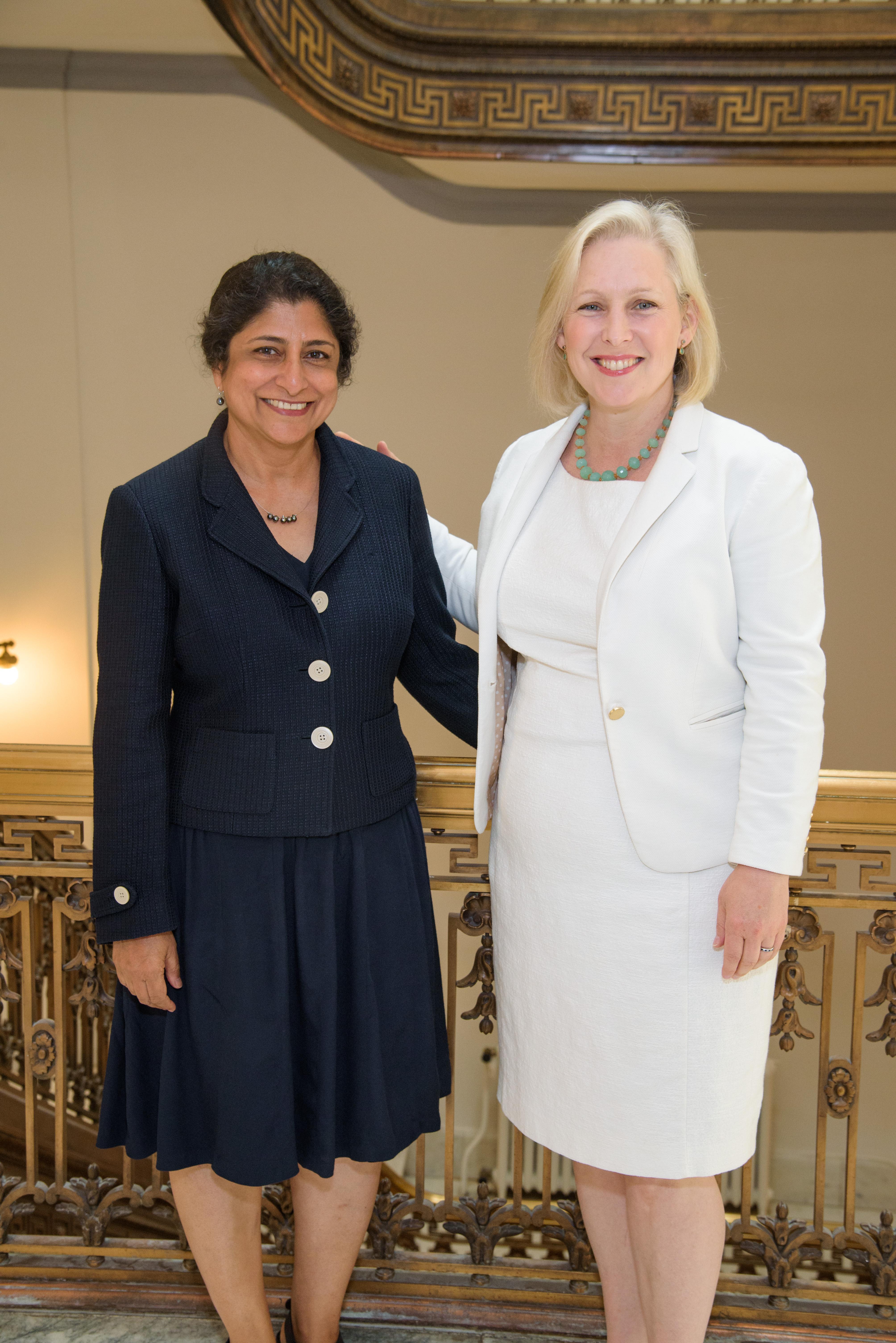 ASU prof Punam Ohri-Vachaspati and Senator Kirsten Gillibrand