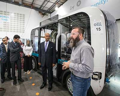 Omani visitors tour the Local Motors factory