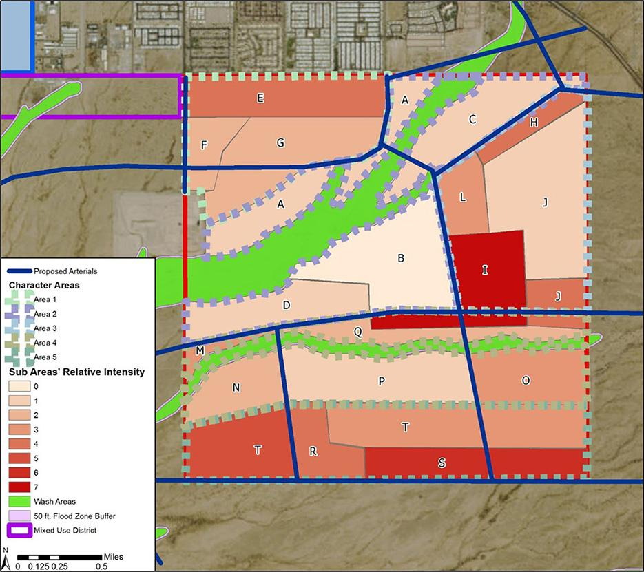 State Lands area - proposed development intensity