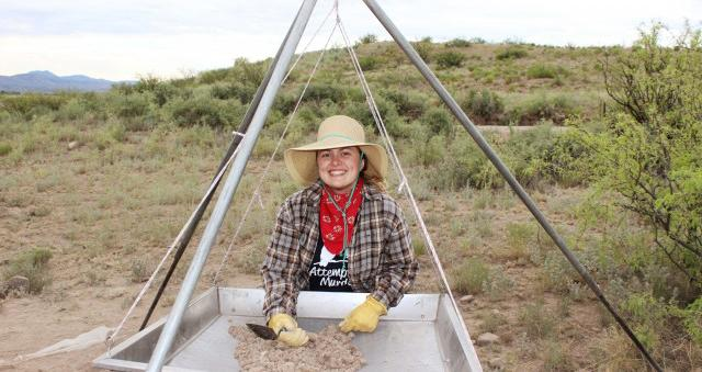 Alexandra Norwood in the field in New Mexico