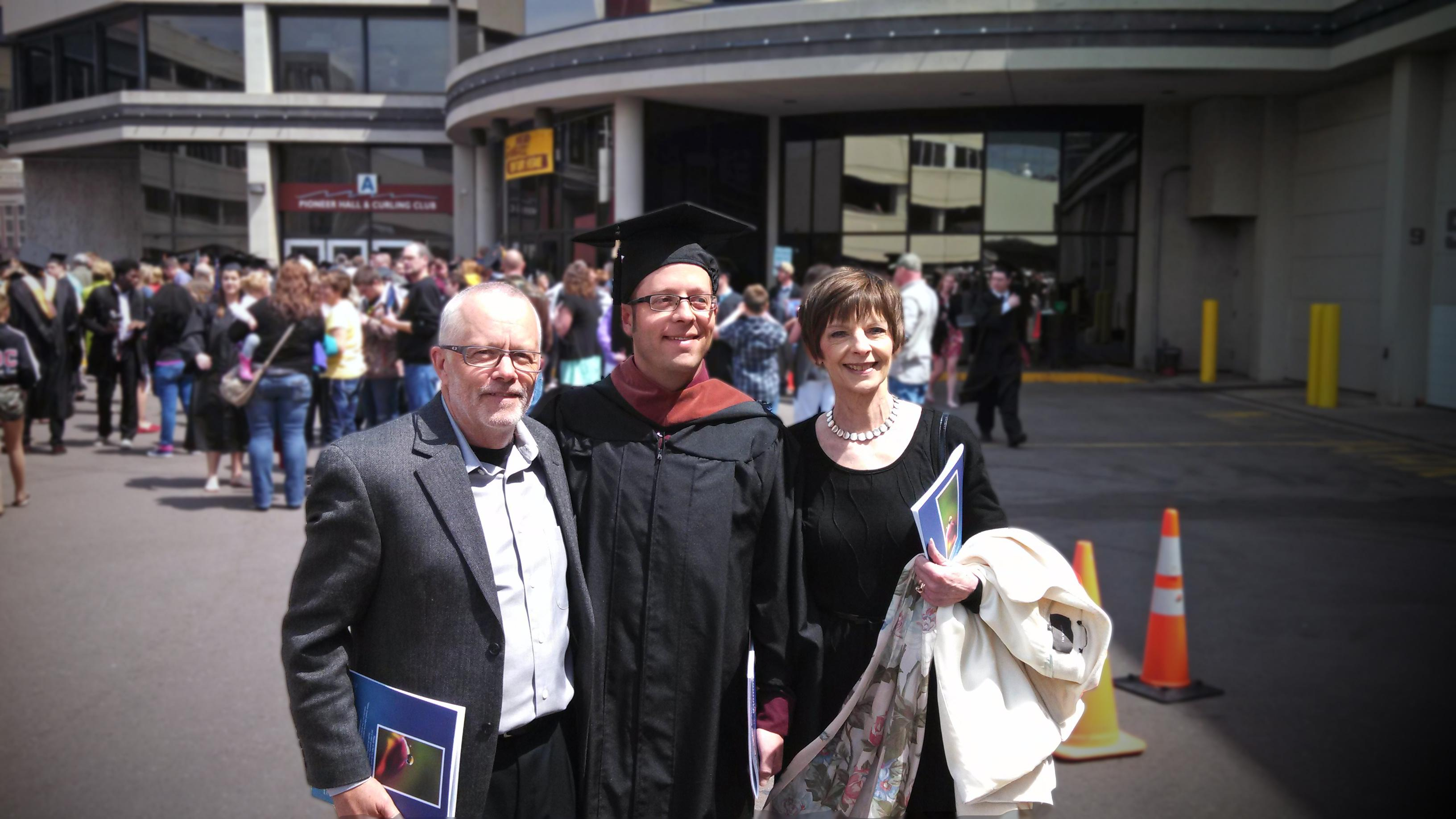 Beth Bockes and family and her son's 2014 college graduation. / Photo courtesy Beth Bockes.
