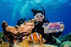 woman in scuba gear underwater