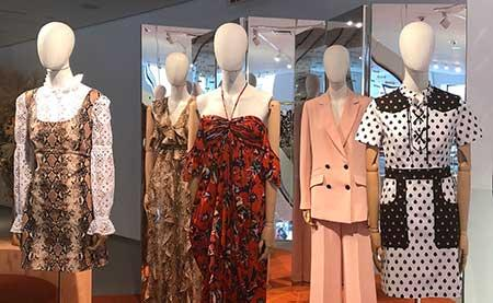 Clothing on display at the Diane von Furstenberg studio