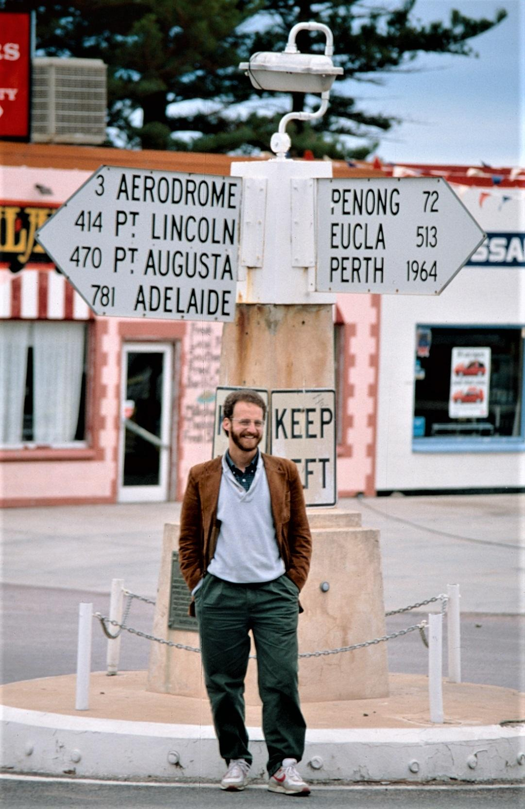 photo of Liebow visiting Australia for research