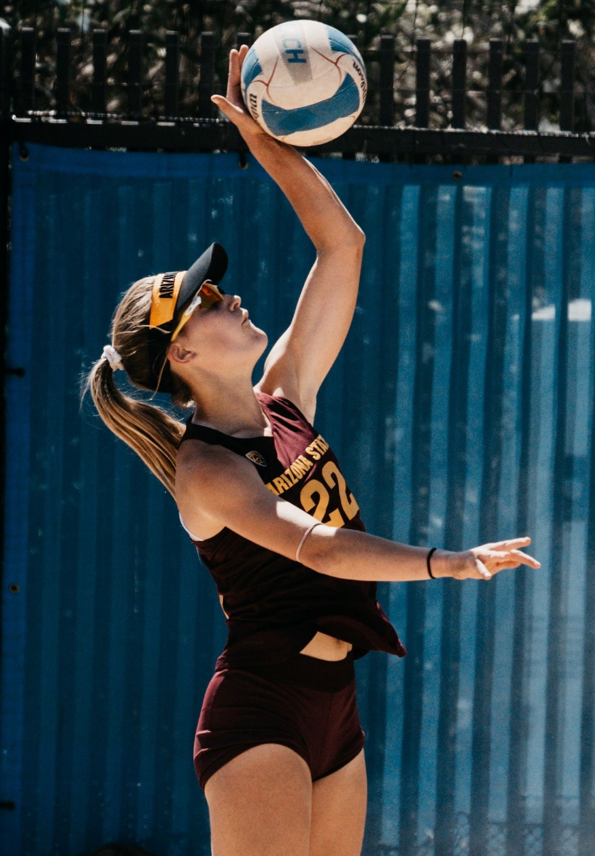 Emily Anderson, Sun Devil, playing beach volleyball