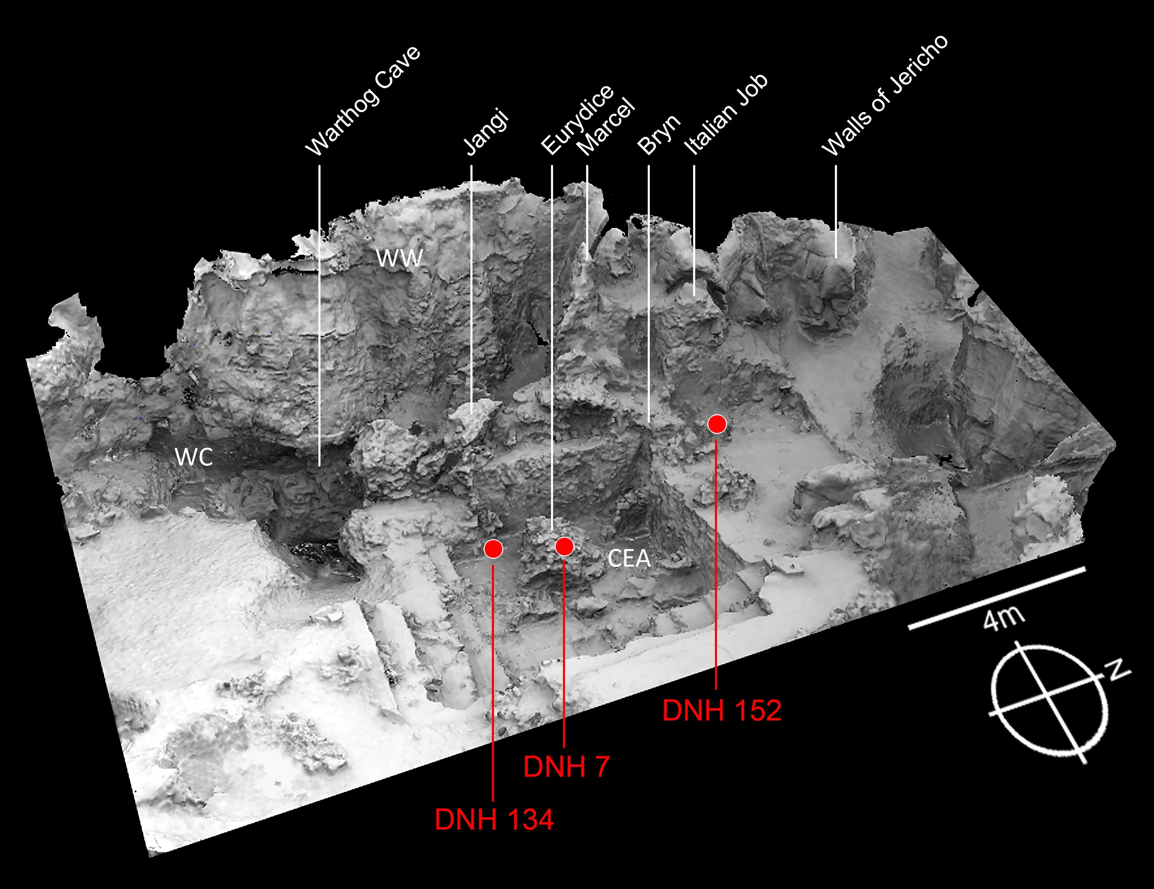 3D reconstruction of field site, Drimolen, South Africa