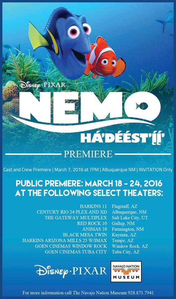 Finding Nemo Navajo screening poster