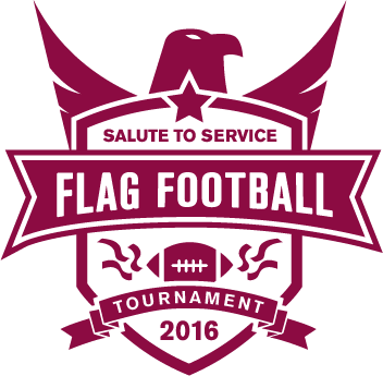 Salute to Service flag-football tournament graphic