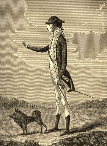 General Charles Lee and one of his dogs