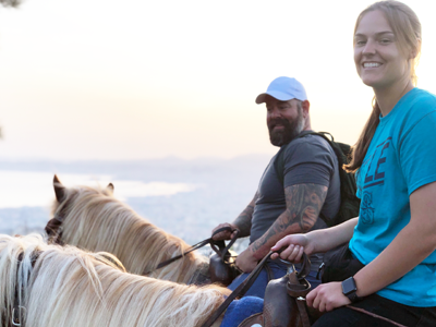 photo of Josh Abbott horseback riding