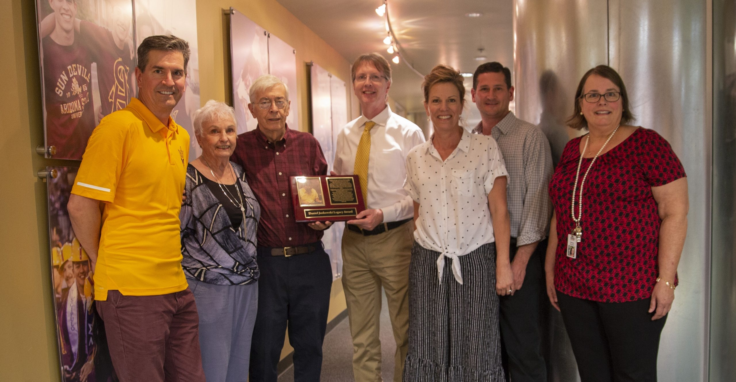 Daniel Jankowski with family and Fulton Dean Kyle Squires
