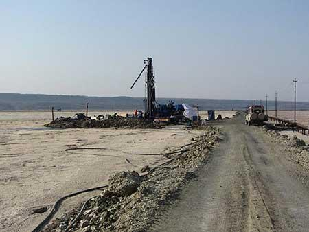 Lake Magadi, Kenya, drilling site