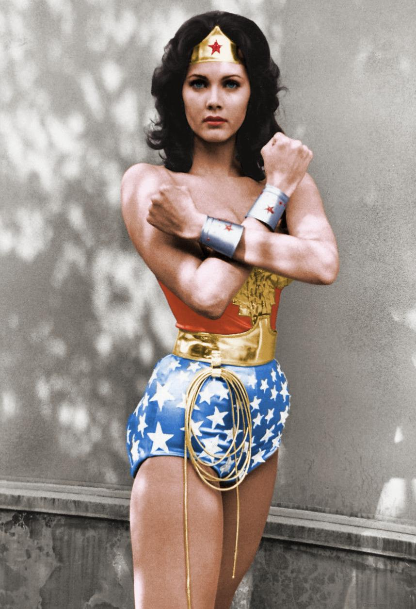 Public domain image of Lynda Carter as Wonder Woman / Wikimedia Commons