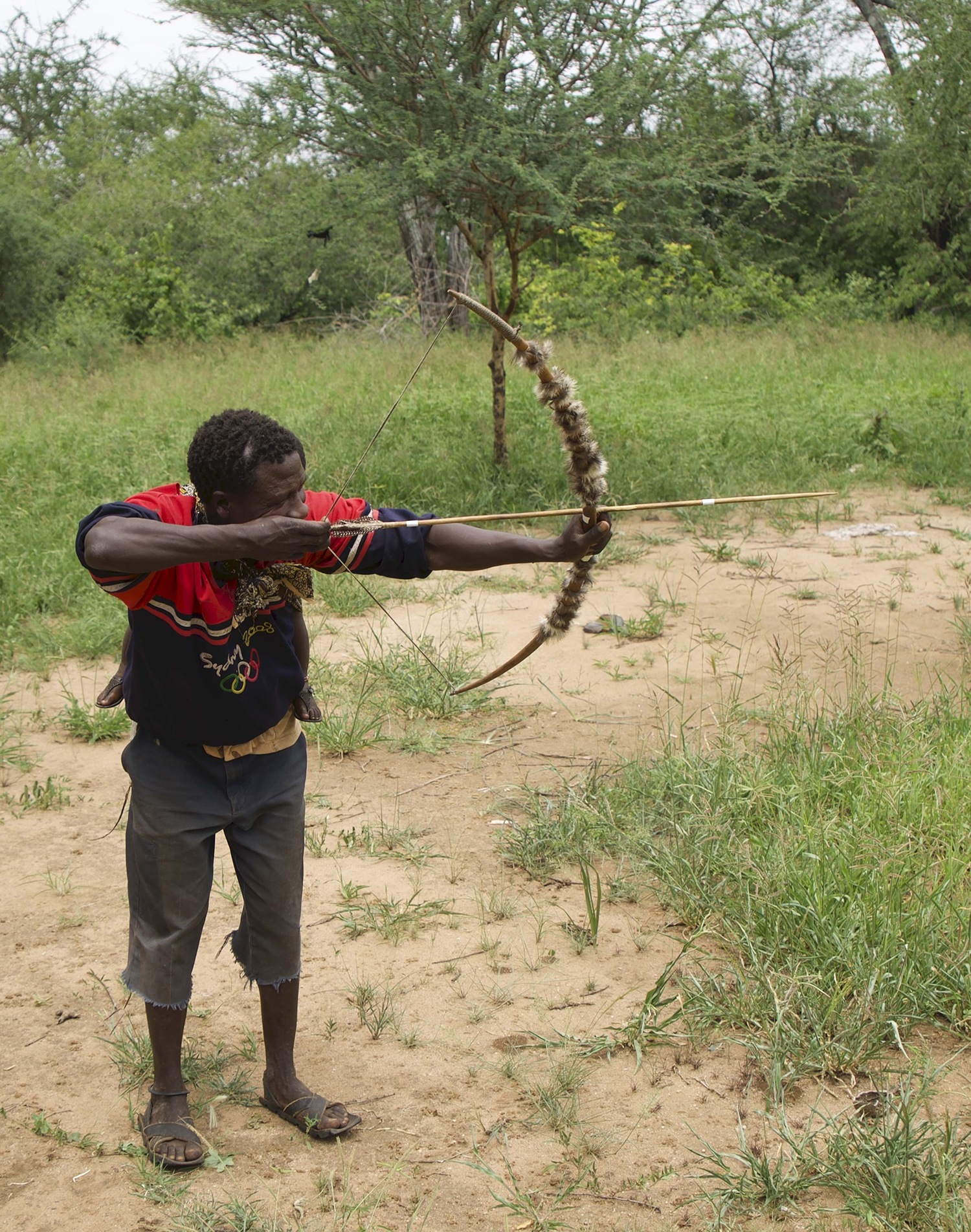 Hadza man with bow