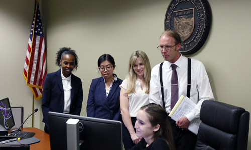 photo of students at Mediation Clinic Justice Court
