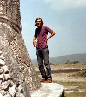 photo of Smith as a student at Teotihuacan in 1974