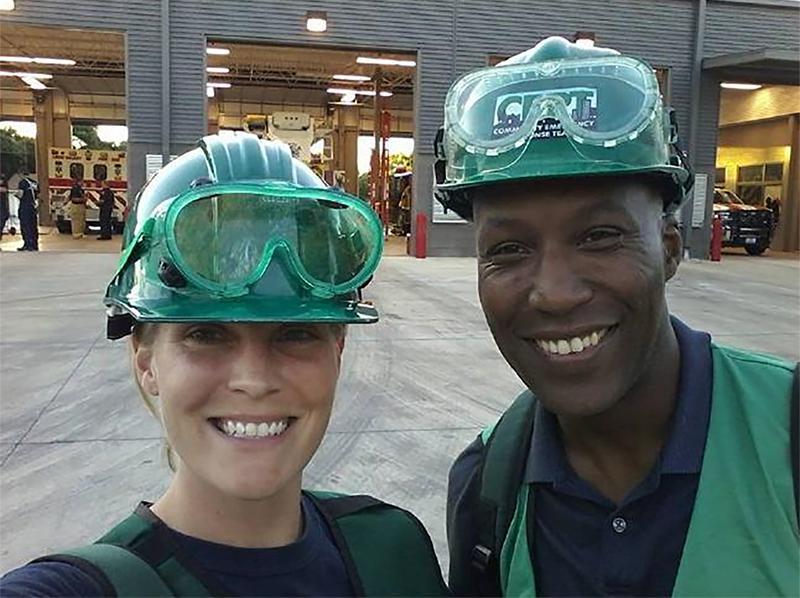 Melissa Munguia on the Leon Valley Community Emergency Response Team
