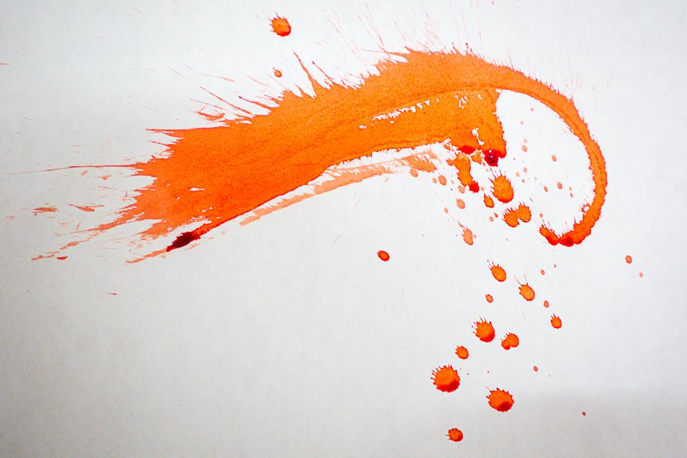 orange splatter