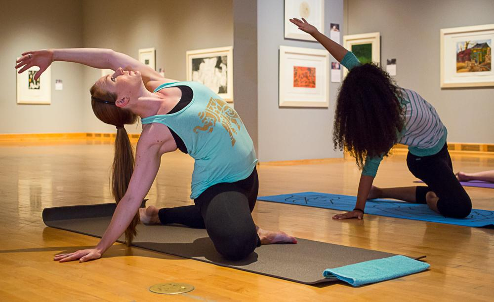 yoga in the museum