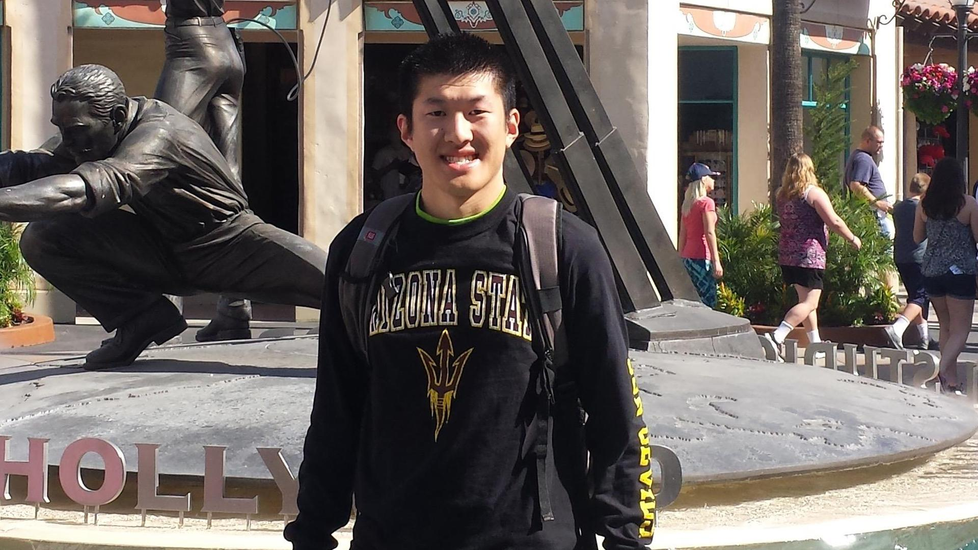 student at Universal Studios