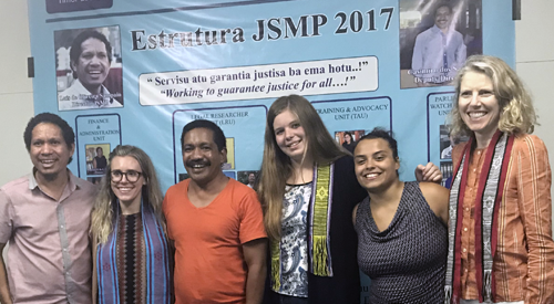 photo of students that participated in Timor-Leste internship with Professor Julia Fromholz