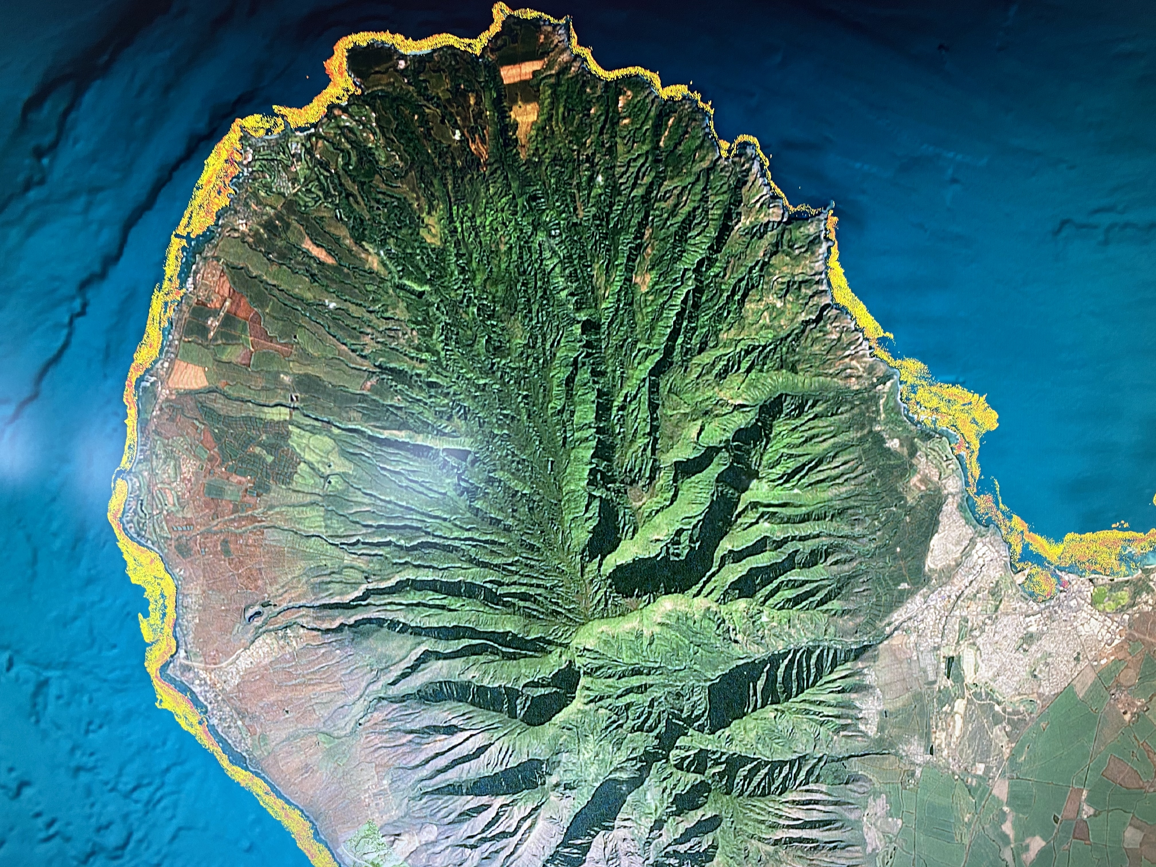 A map of West Maui's live coral