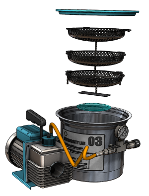 Rendering of the vaporized hydrogen peroxide system