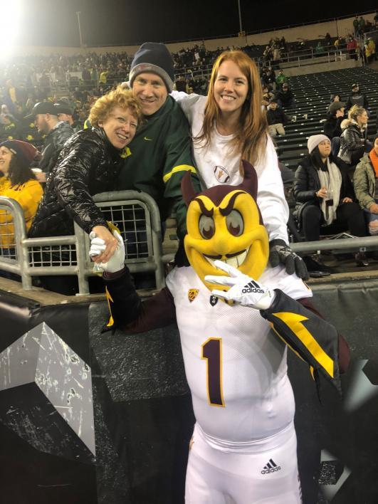 Walker McCrae as Sparky with parents and sister