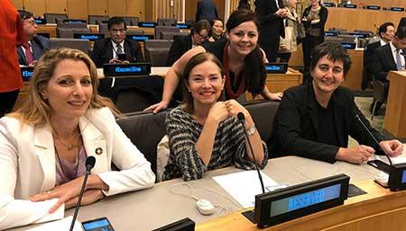We Empower crew at UN headquarters