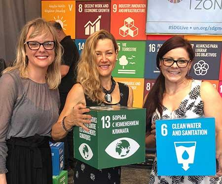 We Empower crew at the UN Solutions Summit