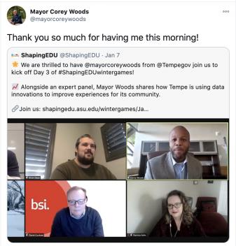 Mayor Corey Woods Tweet