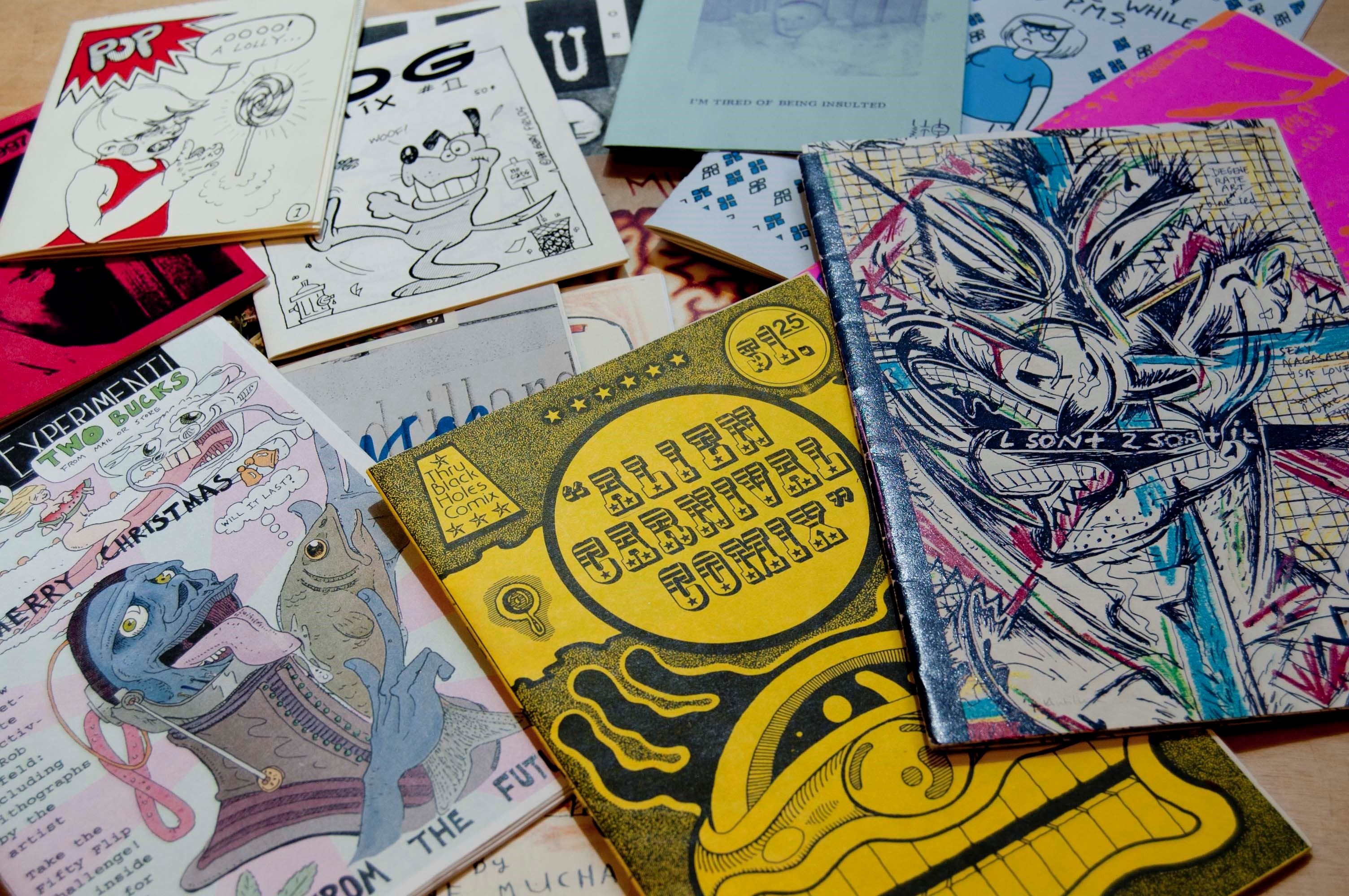 Zines in the Joan Flasch Artists' Book Collection. / Image by Flaxman Library on Flickr, used under CC2.0.