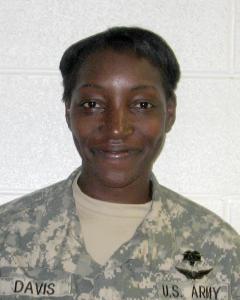 Army staff sergeant medic Carletta Davis