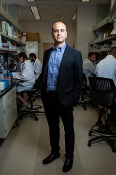 man standing in lab